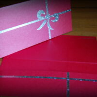 Geschenkverpackung Festlich Rot