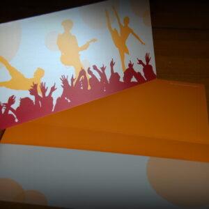 Geschenkverpackung Musik-Festival